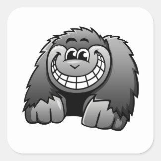 Cartoon Gorilla Square Sticker