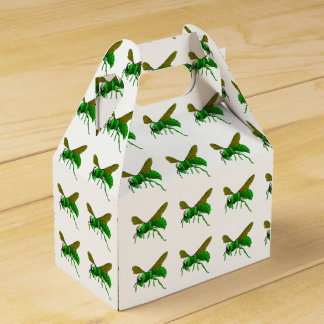 Cartoon green and lime hornet wasp bee favour box