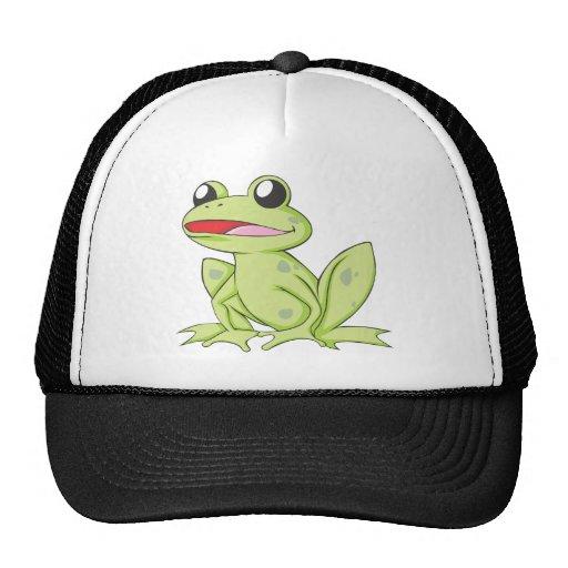 Cartoon Green Bull Frog Hat