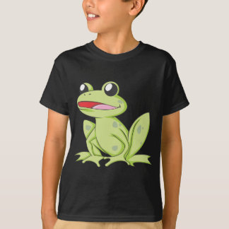 Cartoon Green Bull Frog T-Shirt
