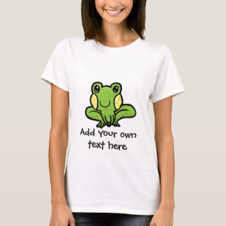 cartoon green speckled frog customisable T-Shirt