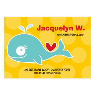 Cartoon Green Whale Kid Photo Profile Name Card Business Card Templates