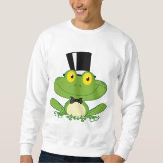 Cartoon Groom Frog Character Sweatshirt