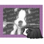 Cartoon Guinea Pig Photo Frame (long hair) Photo Sculpture Magnet