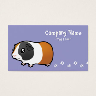 Cartoon Guinea Pig (smooth hair) Business Card