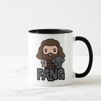 Cartoon Hagrid and Fang Character Art Mug