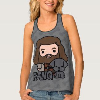 Cartoon Hagrid and Fang Character Art Singlet