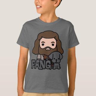 Cartoon Hagrid and Fang Character Art T-Shirt