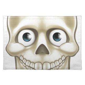 Cartoon Halloween Skull Skeleton Character Placemat