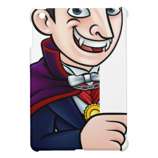 Cartoon Halloween Vampire Pointing at Sign Case For The iPad Mini