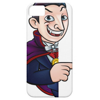 Cartoon Halloween Vampire Pointing at Sign Case For The iPhone 5