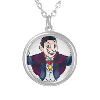 Cartoon Halloween Vampire Silver Plated Necklace