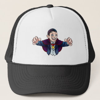 Cartoon Halloween Vampire Trucker Hat