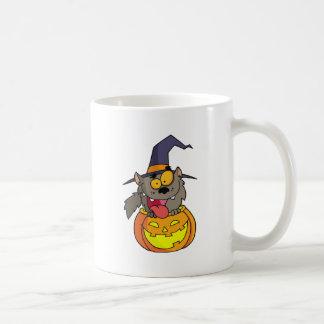Cartoon Halloween Werewolf Mug