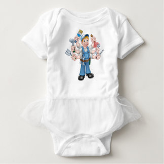 Cartoon Handyman Baby Bodysuit