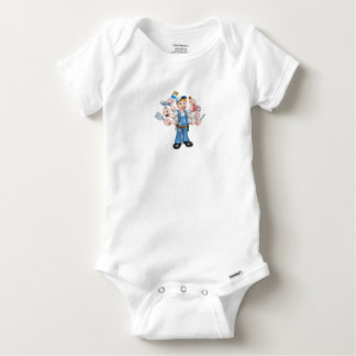 Cartoon Handyman Baby Onesie