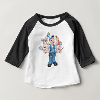 Cartoon Handyman Baby T-Shirt