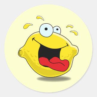 Cartoon Happy Lemon Sticker