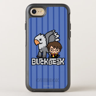 Cartoon Harry Potter and Buckbeak OtterBox Symmetry iPhone 8/7 Case