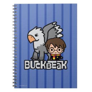 Cartoon Harry Potter and Buckbeak Spiral Notebook