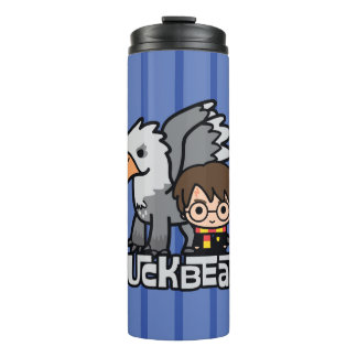 Cartoon Harry Potter and Buckbeak Thermal Tumbler
