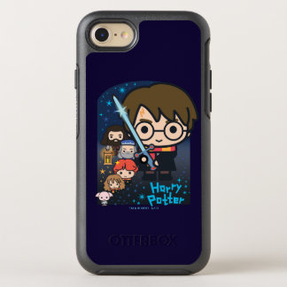 Cartoon Harry Potter Chamber of Secrets Graphic OtterBox Symmetry iPhone 8/7 Case