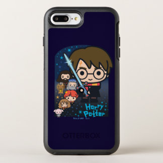 Cartoon Harry Potter Chamber of Secrets Graphic OtterBox Symmetry iPhone 8 Plus/7 Plus Case
