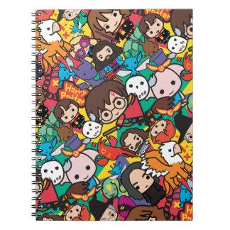 Cartoon Harry Potter Character Toss Pattern Notebook