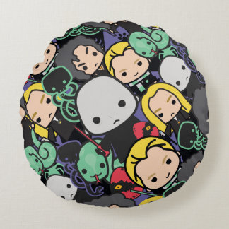 Cartoon Harry Potter Death Eaters Toss Pattern Round Cushion
