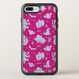 Cartoon Harry Potter Magic Icons Toss Pattern OtterBox Symmetry iPhone 8 Plus/7 Plus Case