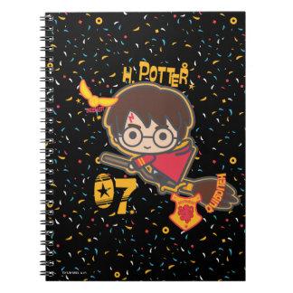 Cartoon Harry Potter Quidditch Seeker Notebooks