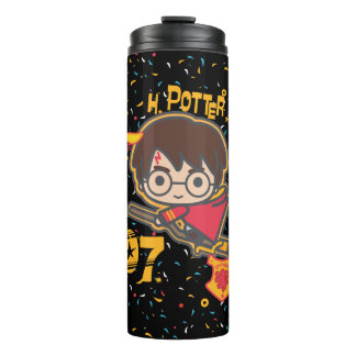 Cartoon Harry Potter Quidditch Seeker Thermal Tumbler