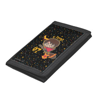 Cartoon Harry Potter Quidditch Seeker Tri-fold Wallets