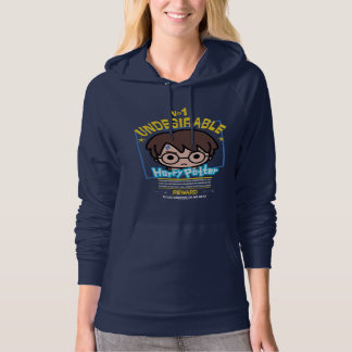Cartoon Harry Potter Wanted Poster Graphic Hoodie