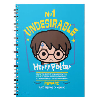 Cartoon Harry Potter Wanted Poster Graphic Spiral Notebook