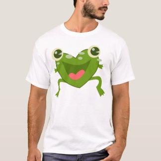 Cartoon Hearts Frog T-Shirt