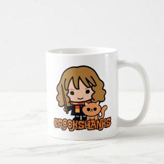 Cartoon Hermione and Crookshanks Coffee Mug