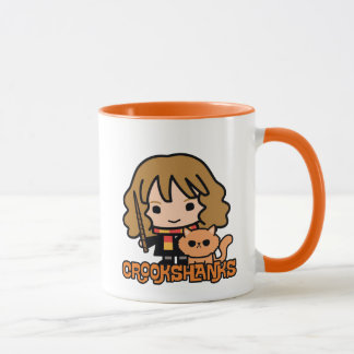 Cartoon Hermione and Crookshanks Mug