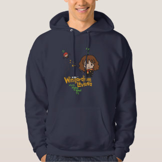 Cartoon Hermione and Ron Wingardium Leviosa Spell Hoodie