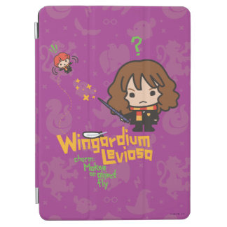 Cartoon Hermione and Ron Wingardium Leviosa Spell iPad Air Cover