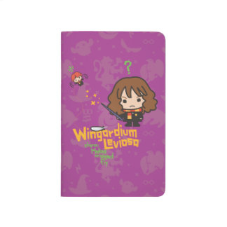 Cartoon Hermione and Ron Wingardium Leviosa Spell Journal