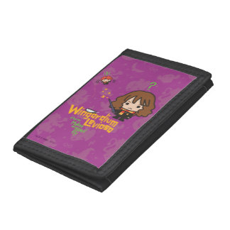 Cartoon Hermione and Ron Wingardium Leviosa Spell Tri-fold Wallet