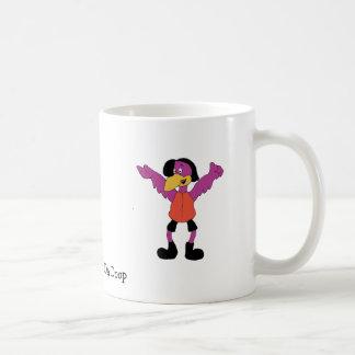 Cartoon Hip Hop Bird Basic White Mug