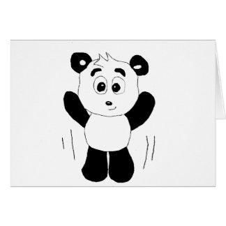 Cartoon Hip Hop Panda Bear Greeting Card