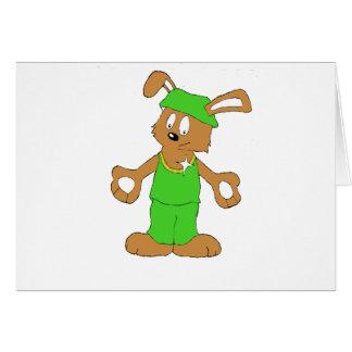 Cartoon HIp Hop Rabbit With Bing Bing Greeting Card