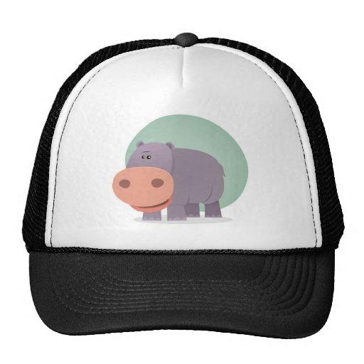 Cartoon Hippo Trucker Hat