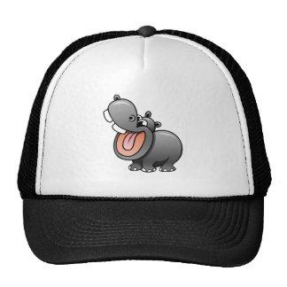 Cartoon Hippo Mesh Hat