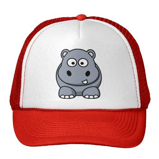 Cartoon Hippo Mesh Hats
