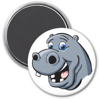 Cartoon Hippo Magnet