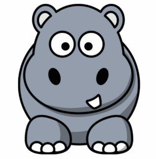 Cartoon Hippo Standing Photo Sculpture